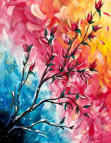 A Branching Out of the Cold paint nite project by Yaymaker
