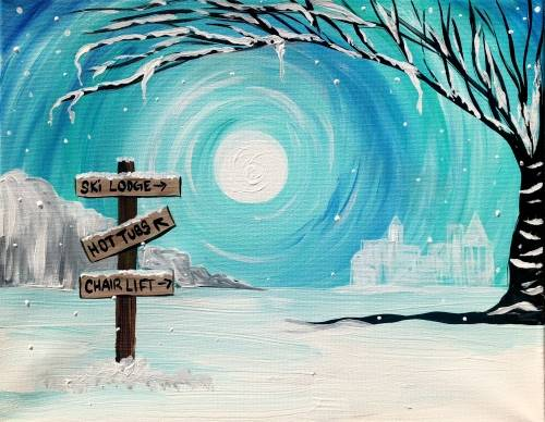 A Winter Vacation paint nite project by Yaymaker