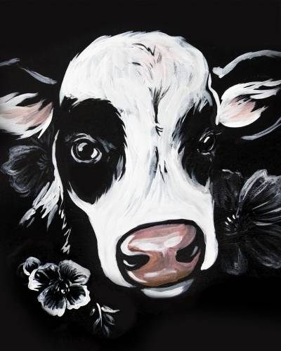 A Udderly Fantastic Cow paint nite project by Yaymaker