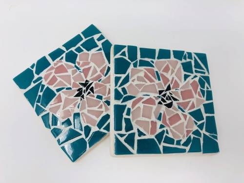 A Custom Mosaic Coasters V make a mosaic project by Yaymaker