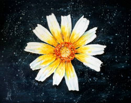 A Crown Daisy paint nite project by Yaymaker