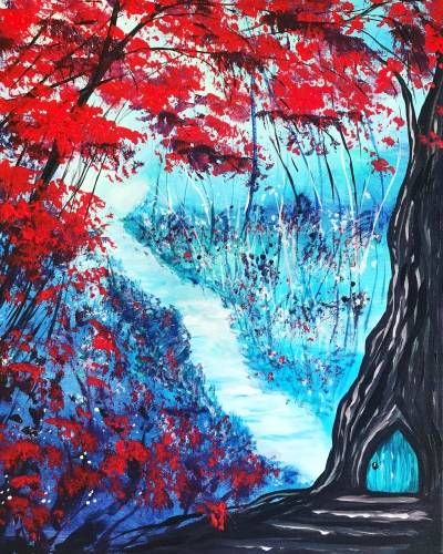 A Door to the Forest paint nite project by Yaymaker