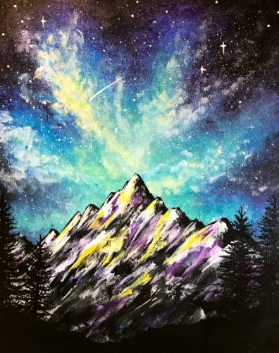 A Mystical Mountains II paint nite project by Yaymaker