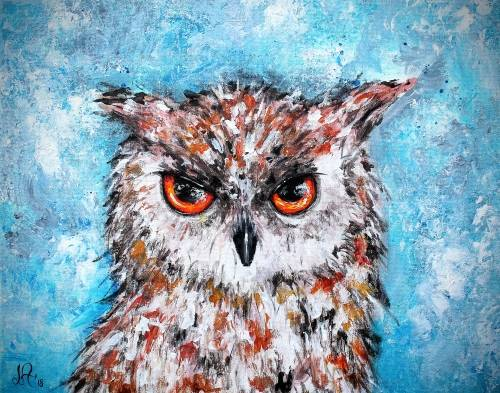 A Majestic Owl paint nite project by Yaymaker