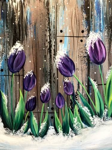 A Frosted Tulips paint nite project by Yaymaker