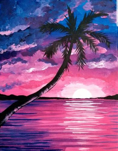 A Pink Sky At Night paint nite project by Yaymaker
