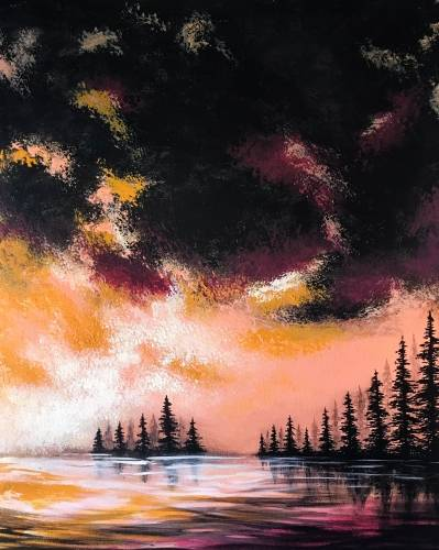A A Beautiful Storm paint nite project by Yaymaker