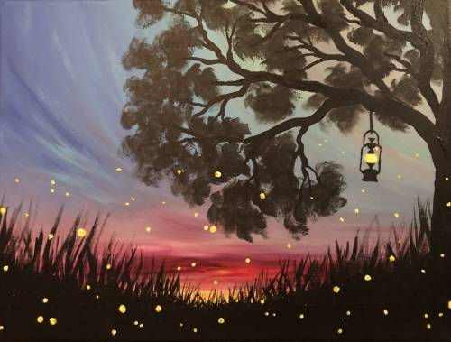 A A Fairy Nice Sunset paint nite project by Yaymaker