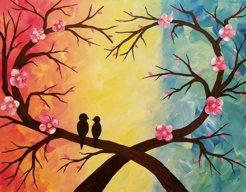 A Love Branches paint nite project by Yaymaker