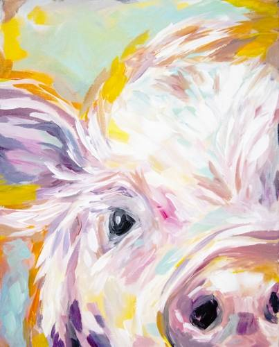 A This Little Pig Went To A Paint Nite paint nite project by Yaymaker