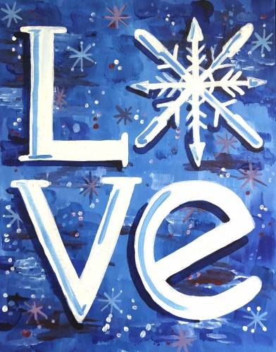 A Snow Love II paint nite project by Yaymaker
