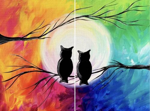 A Seasons of Love Partner Painting paint nite project by Yaymaker