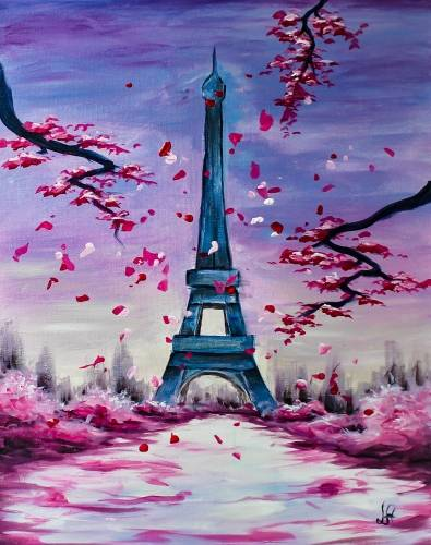 A Lovely Paris II paint nite project by Yaymaker