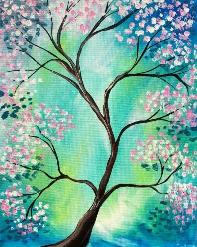 A Peaceful Spring Blossoms paint nite project by Yaymaker