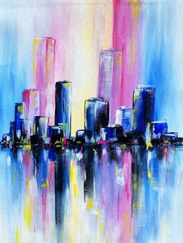 A Morning City Reflections paint nite project by Yaymaker