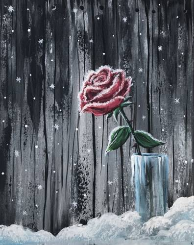 A Frosted Rose paint nite project by Yaymaker