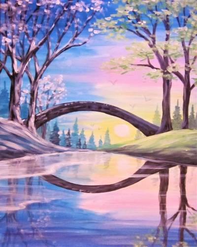 A Bridging the Seasons III paint nite project by Yaymaker