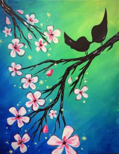 A Sweet Lil Spring Sparkle Smooch paint nite project by Yaymaker