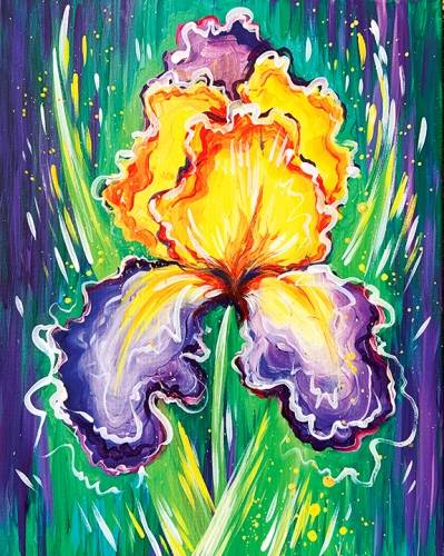 A Spring Iris in Purple and Yellow paint nite project by Yaymaker
