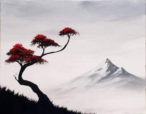 A Bonsai Mountain II paint nite project by Yaymaker