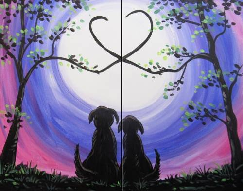 A Labs in Love Partner Painting paint nite project by Yaymaker