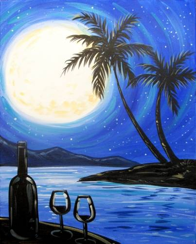 A Evening Wine Delight paint nite project by Yaymaker