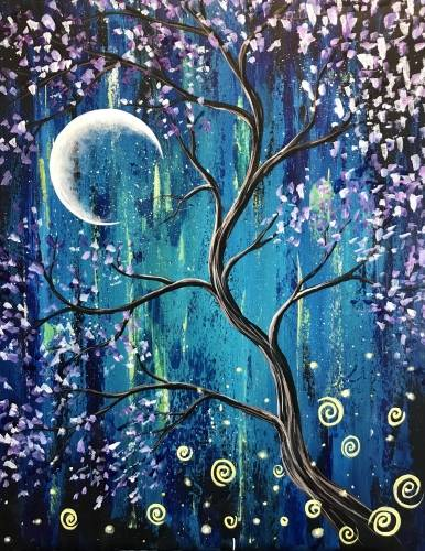 A Mystic Blossoms paint nite project by Yaymaker