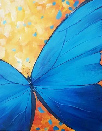 A The Blue Butterfly paint nite project by Yaymaker