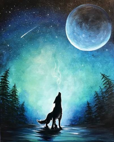 A Song of the Stars paint nite project by Yaymaker