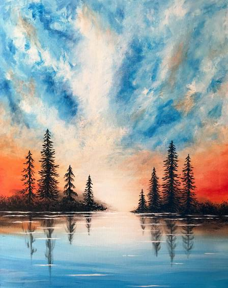 A Mystic Morning paint nite project by Yaymaker