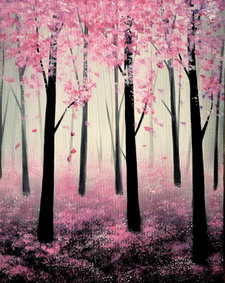 A Spring Forest paint nite project by Yaymaker