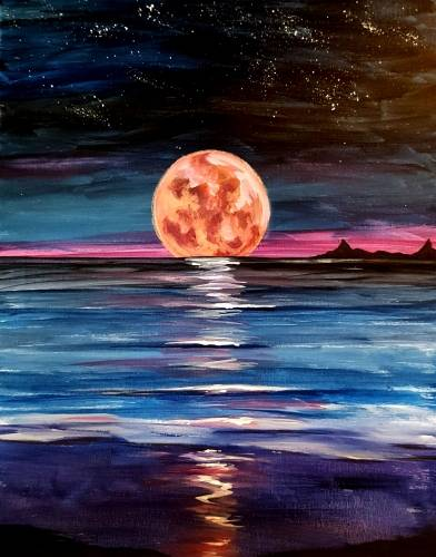 A Setting Super Moon paint nite project by Yaymaker