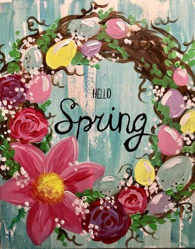 A Hello Spring paint nite project by Yaymaker