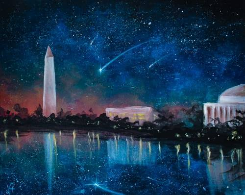 A Starry DC Night III paint nite project by Yaymaker