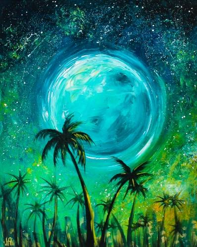 A Starry City Palms paint nite project by Yaymaker