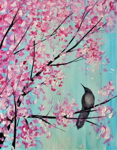 A Spring Songbird paint nite project by Yaymaker