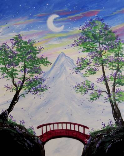 A Bridge Mountain Peak paint nite project by Yaymaker