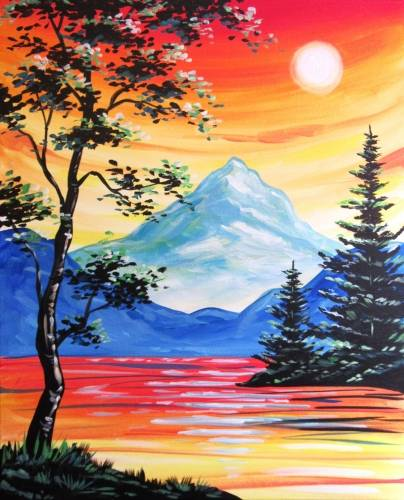 A Sunset Afternoon Delight paint nite project by Yaymaker