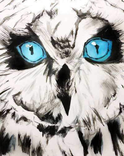 A Owl Catch You Later paint nite project by Yaymaker