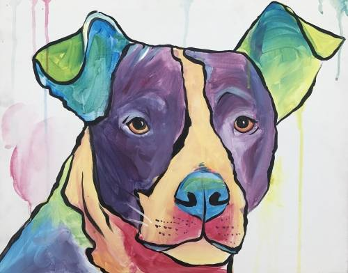 A Color Splash  Paint Your Pet paint nite project by Yaymaker