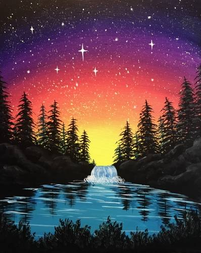 A Starlight Falls paint nite project by Yaymaker