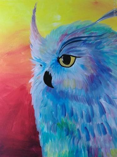 A Owly Thoughts paint nite project by Yaymaker