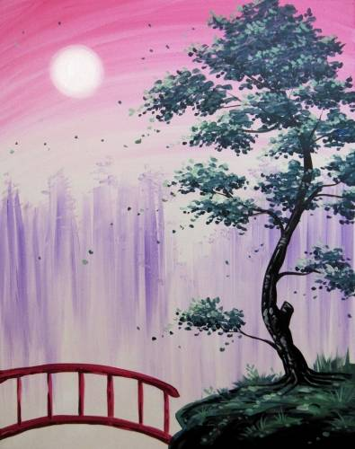 A Hidden Forest Bridge paint nite project by Yaymaker