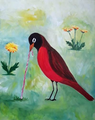 A Spring Robin Yum paint nite project by Yaymaker