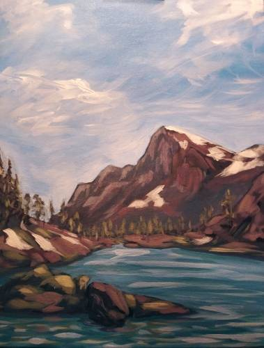 A Enchanted Mountains paint nite project by Yaymaker