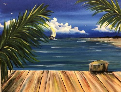 A Sailing is a Breeze paint nite project by Yaymaker