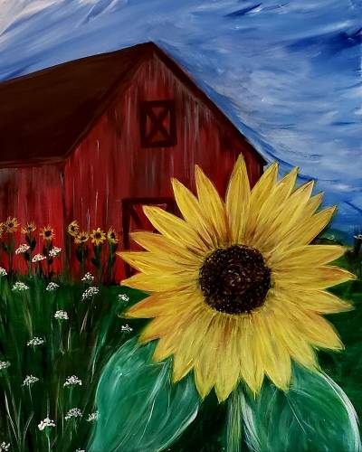 A Sunflower Barn II paint nite project by Yaymaker