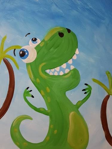 A TyrannosaurusFLEX paint nite project by Yaymaker