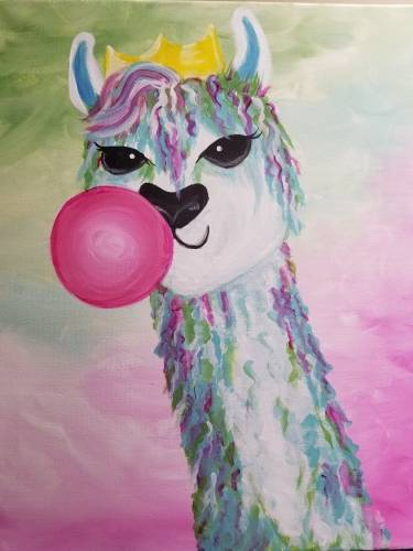 A Llama Queen paint nite project by Yaymaker