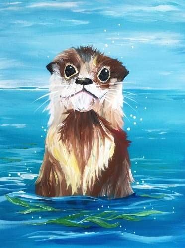 A Smiling Otter paint nite project by Yaymaker